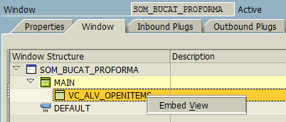 how to embed view in Web Dynpro Window