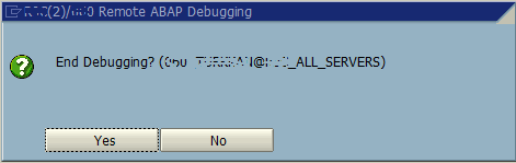 end remote ABAP debugging