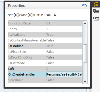 set OnCreateHandler for default values of SAP Personas flavor