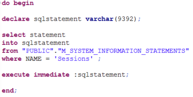 execute SQLScript sql statements by reading HANA database table dynamically