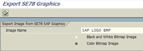 export SAP logo from BDS - SE78 transaction
