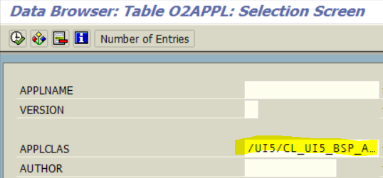 search for SAPUI5 applications created on your SAP system by ABAP programmer