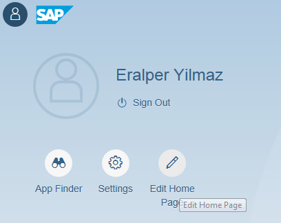 Edit Home Page icon for SAP Fiori Launchpad customization