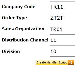 OnCreateHandler script button on SAP Screen Personas layout