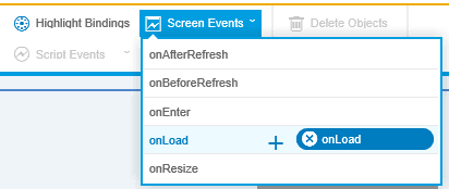 attach onLoad event to SAP Screen Personas flavor