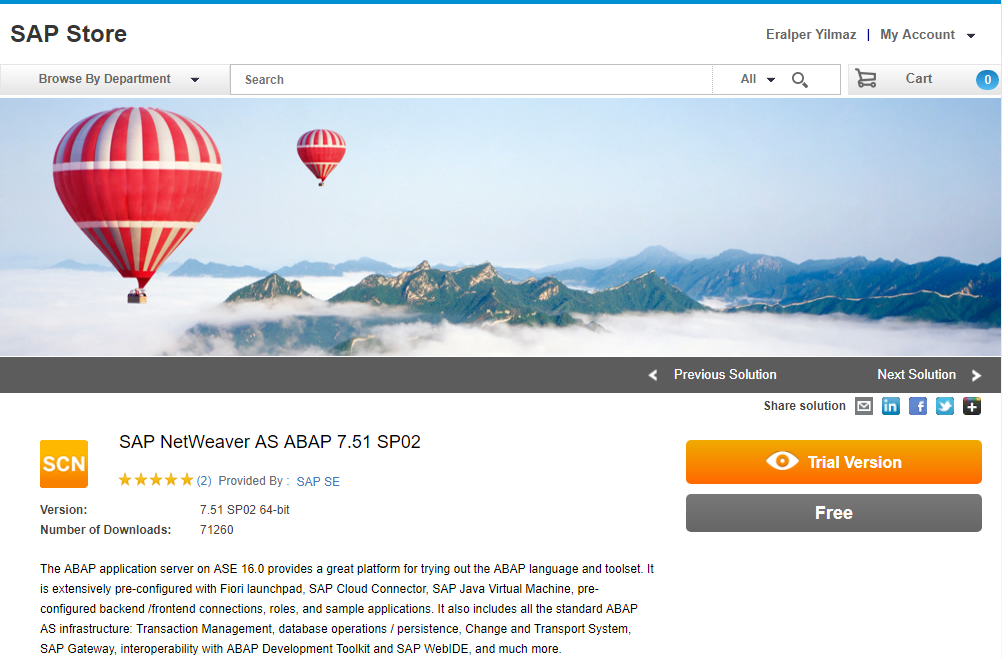 download SAP free Netweaver Application Server