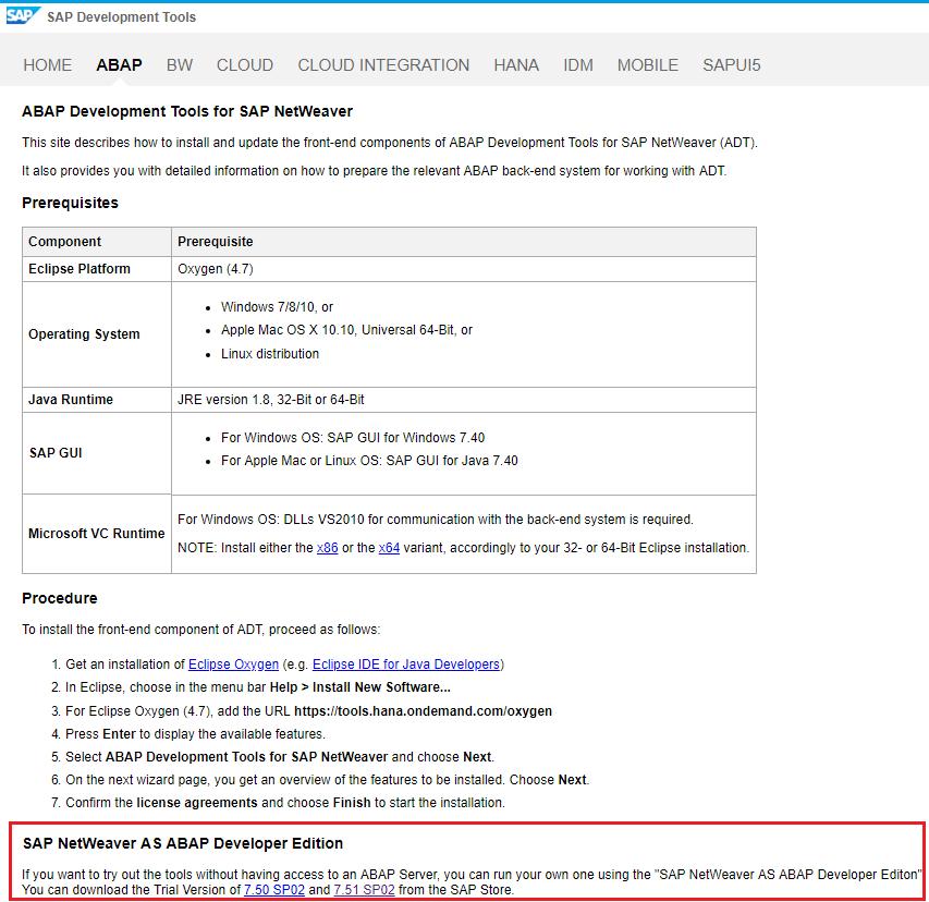 install free SAP Netweaver AS ABAP Developer Edition