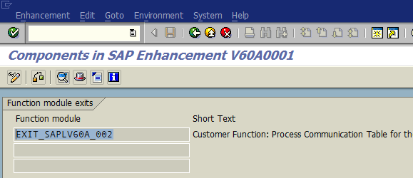 SAP Enhancements transaction SMOD