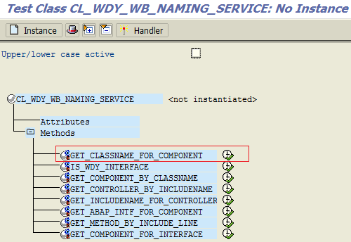 get class name for web dynpro component using static class method