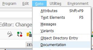 goto documentation for ABAP program for developers