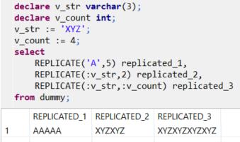 SQL Replicate function for ABAP developer on SAP HANA database