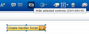 hide or unhide controls on SAP Personas flavor