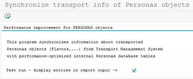 improve performance for SAP Screen Personas objects