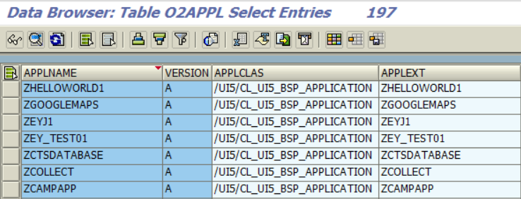 list of SAP UI5 applications for ABAP developers