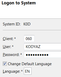 logon to SAP system from Eclipse IDE