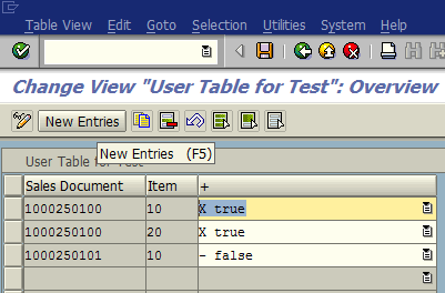 maintain ABAP table in SAP using new transaction code