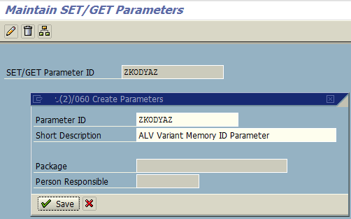 create parameters for ABAP developer on SAP