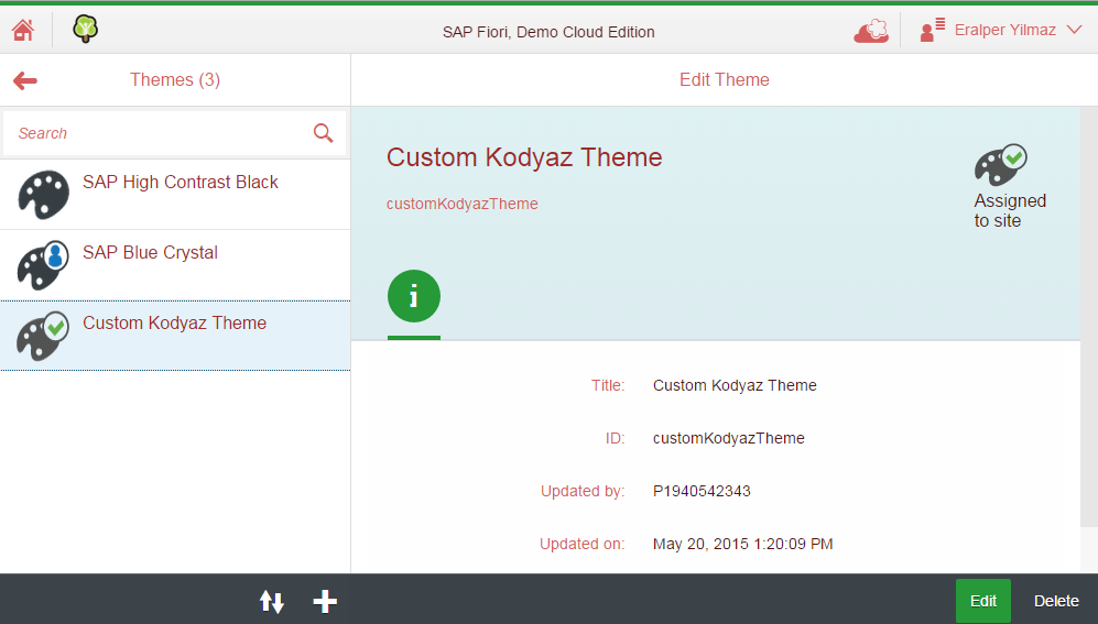 manage SAP Fiori themes
