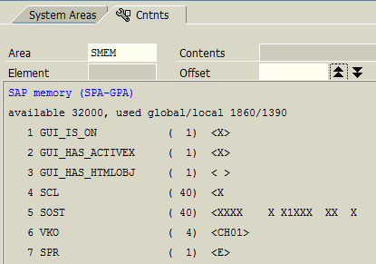 SAP memory (SPA-GPA) on ABAP Debugger tool