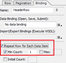 missing table header row on Adobe Form output pages