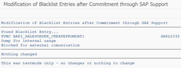 ABAP program to check blacklist entries on SAP HANA