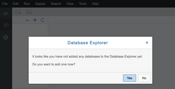 no database added to Database Explorer in SAP Web IDE