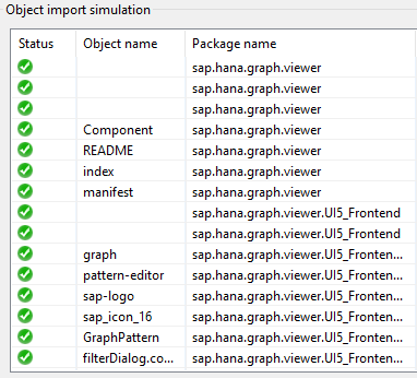 delivery unit import simulation for Graph Viewer component
