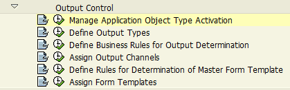 SAP customizing for Output Management approach