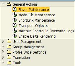 SAP Personas flavor mainrenance tool
