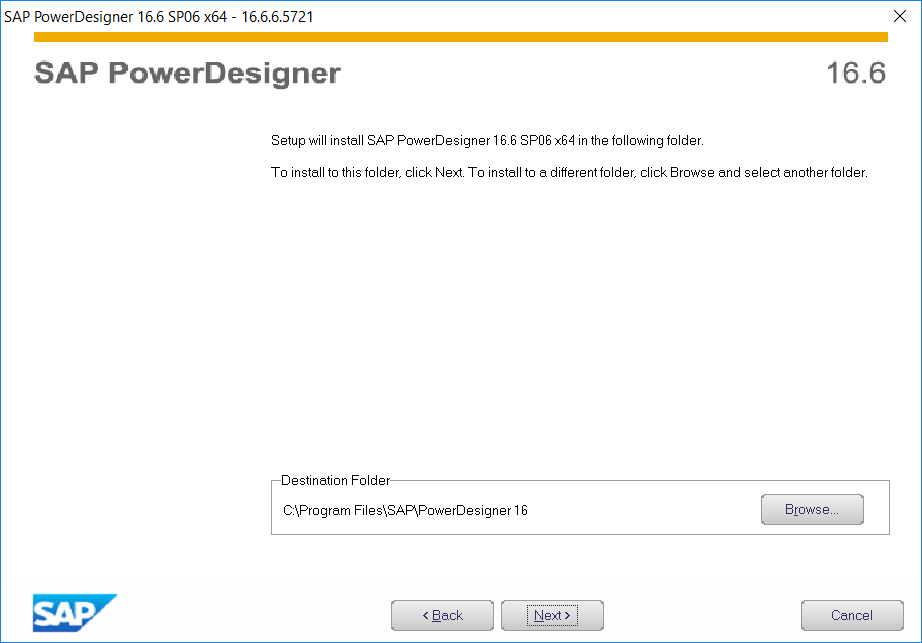 SAP PowerDesigner setup folder