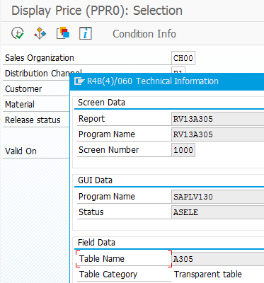 SAP pricing condition tables with ABAP code