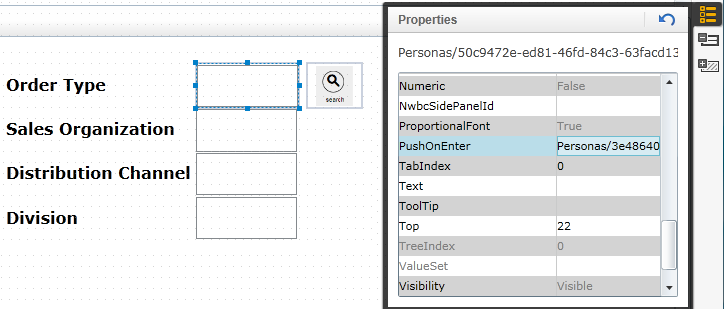PushOnEnter Event on SAP Personas like OnKeyPress in Javascript