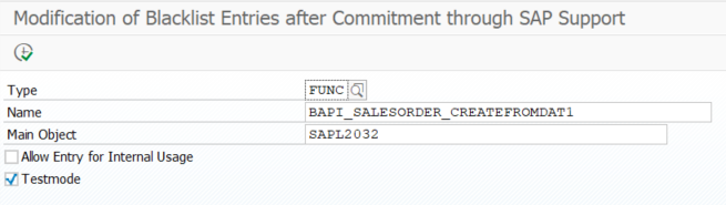 query blacklist ABAP object on SAP S4HANA