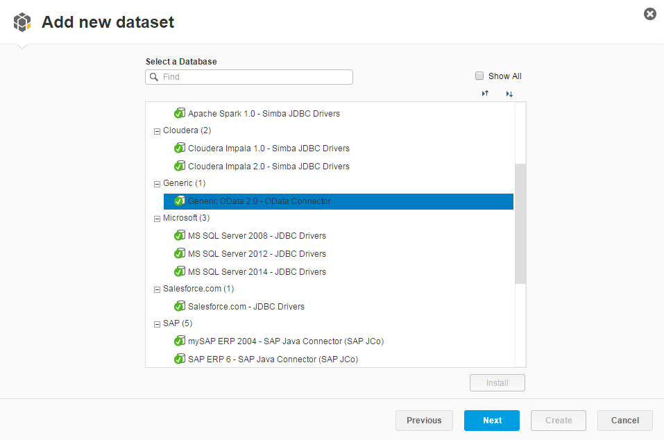 Consume OData Service in SAP Lumira Reporting Tool