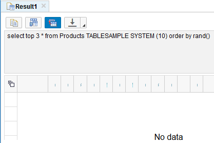 TableSample System has a larger variance in sampling size