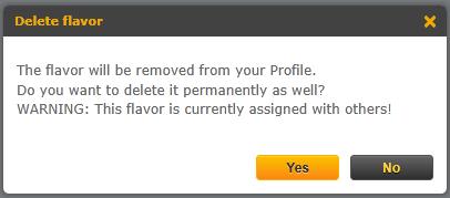 delete Personas flavor permanently