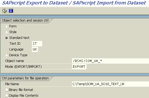 RSTXSCRP ABAP program for SAPScript text export