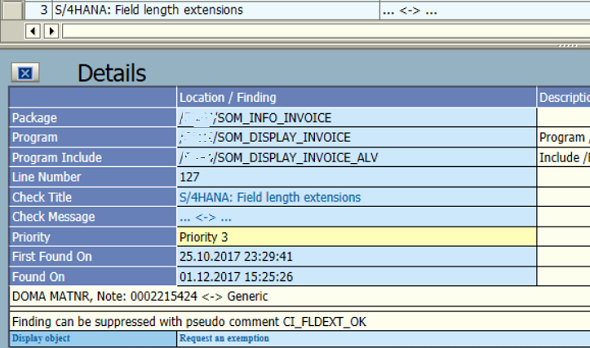 S/4HANA Field length extensions ATC error for MATNR domain