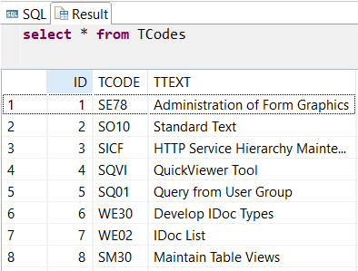 SAP HANA database table with identity column
