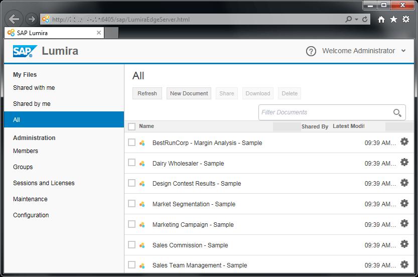 SAP Lumira Server sample reports