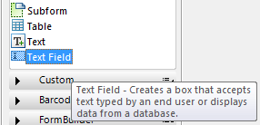 SAP Adobe Form Text Field control