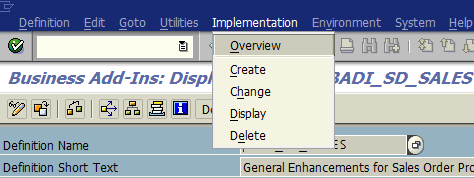 SAP BAdI implementations for ABAP code