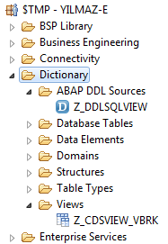 SAP CDS View and SQL DDL source document