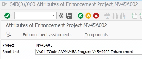 SAP CMOD Enhancement project description