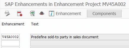 SAP Enhancements for CMOD project
