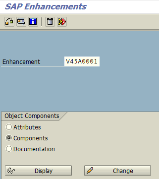 SAP enhancements list for Order Entry transaction