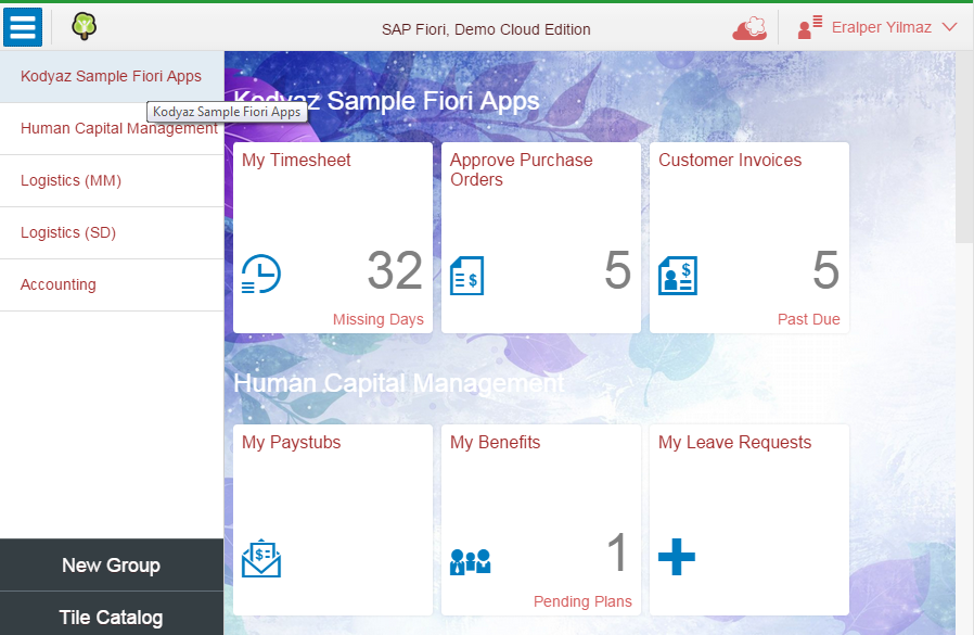 customized SAP Fiori theme using UI Theme Designer