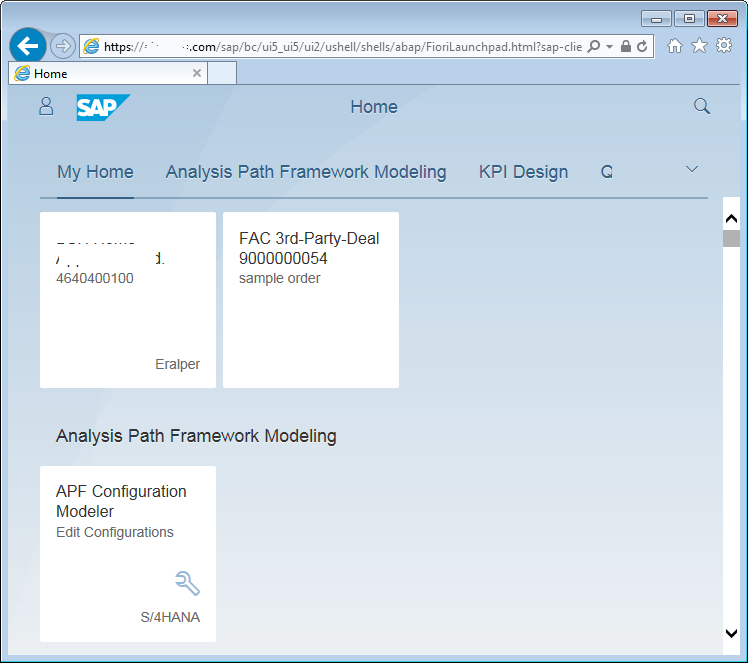 SAP Fiori Launchpad Home page
