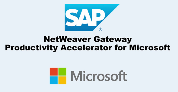 SAP NetWeaver Gateway productivity accelerator for Microsoft