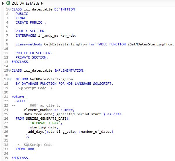 AMDP Table Function ABAP and SQLScript codes in SAP HANA Studio